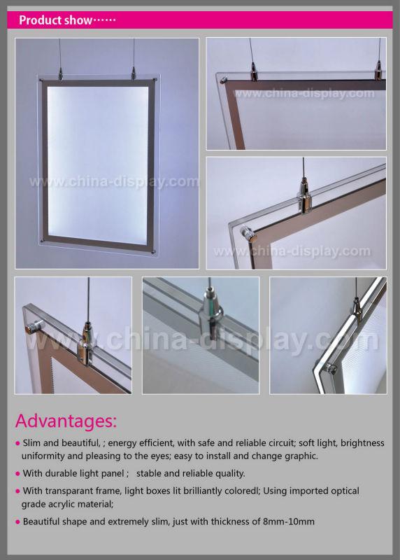 Led Window Display Board Hanging Advertising Light Box Led