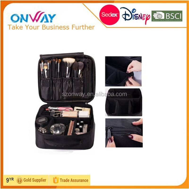 Portable Velcro Cosmetic Organizer Bag Travel makeup bag / Makeup Case