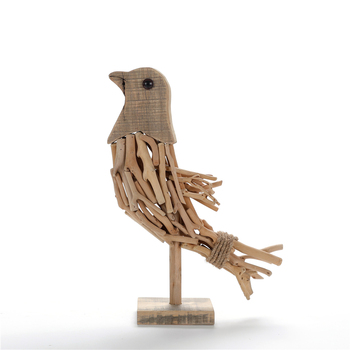 Natural Driftwood Wooden Bird Statue For Table Decorative Buy