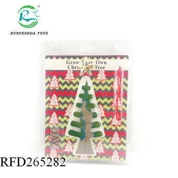 New design mini magic paper growing christmas tree