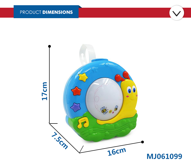 Snail shape dream projection music kids toy for education