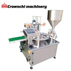 Hot sale automatic plastic cup filling and sealing machine for liquid semi-liquid or powder