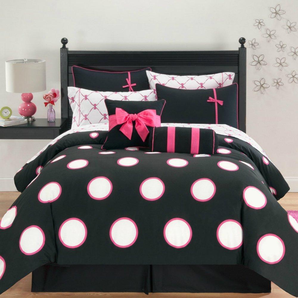 Teen full polka dot bed