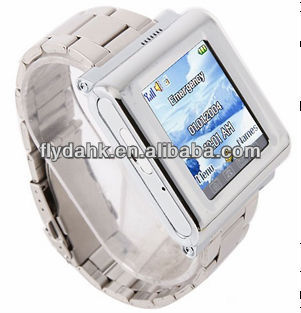 "1.44"" MTK6225 Tri-band 0.3MP camera metal strap watch phone AK912A"