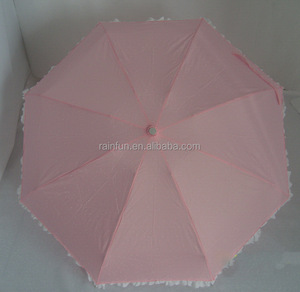 Super mini lace parasol wholesale umbrella with lace