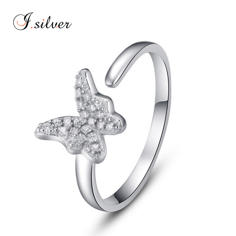 wholesale 925 sterling silver cz butterfly ring design women 2012 R20054