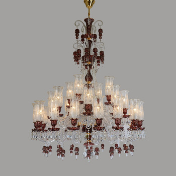 Red high quality glass arm chandelier 28 lamps bohemia crystal red high quality glass arm chandelier 28 lamps bohemia crystal lighting aloadofball Images