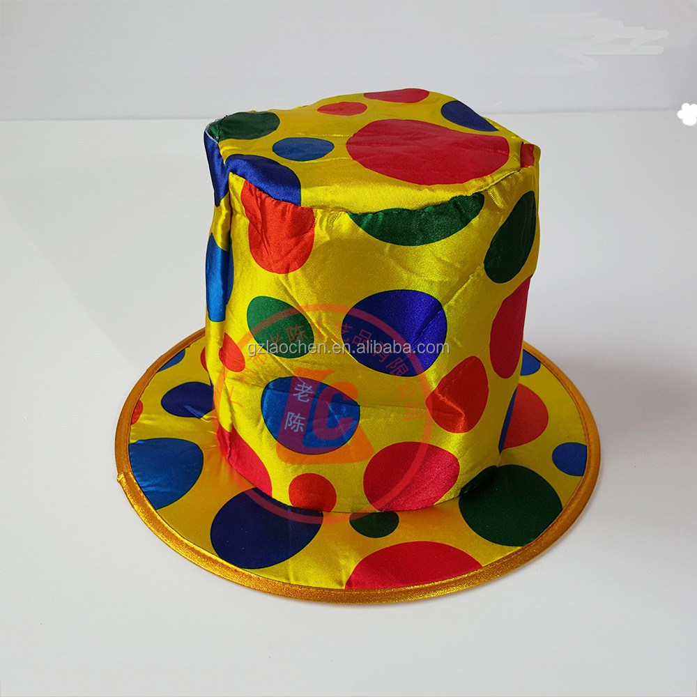 OEM cheap wholesale halloween party man hat clown hat for adults