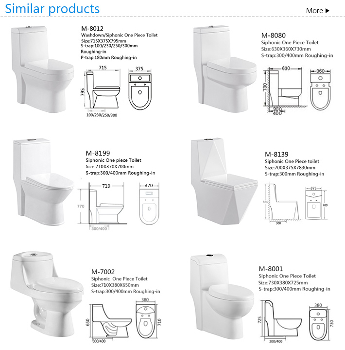 Ceramic one-piece siphonic wc s-trap water closet