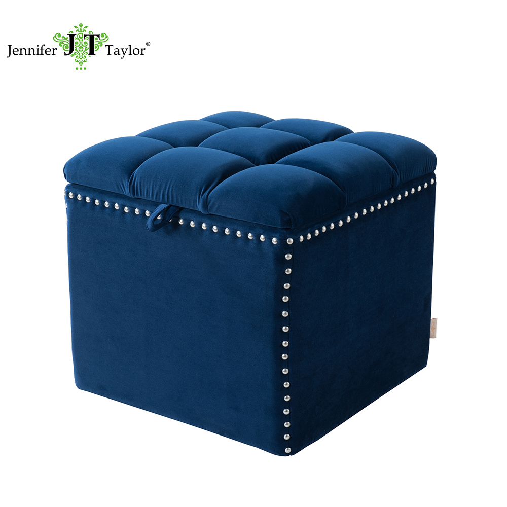 Strange Home Furniture Fabric Upholstery Cubic Storage Stool Navy Blue Box Stitching Comfort Design Inside Empty Storage Ottoman Buy Stool Storage Caraccident5 Cool Chair Designs And Ideas Caraccident5Info