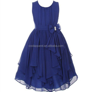 low price wholesale orange and blue colour long frocks