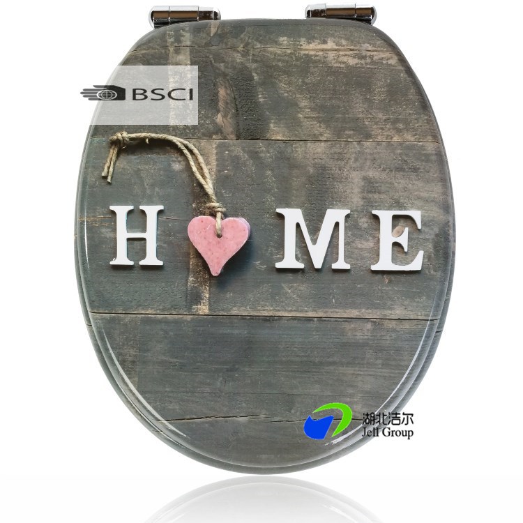 Stainless Steel Soft/Slow Close Molded Wood HDF Wood Toilet Seat