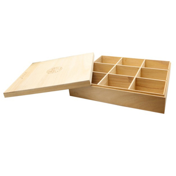 Modern design natural solid wood moon cake box wooden food box for sale