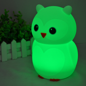 2017 Winter Cute Led Children Night Light Kids Silicone Rabbit Lamp 7-color Flashing Usb Rechargeable Lighting Warm
