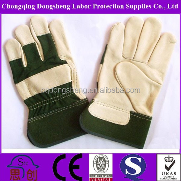 Dongsheng Safety New Rubberized Cuff Leather Hand Gloves,Cow ...