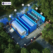 PUXIN high efficiency expandable container sewage water treatment system