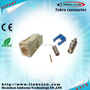 White B type Fakra female connector