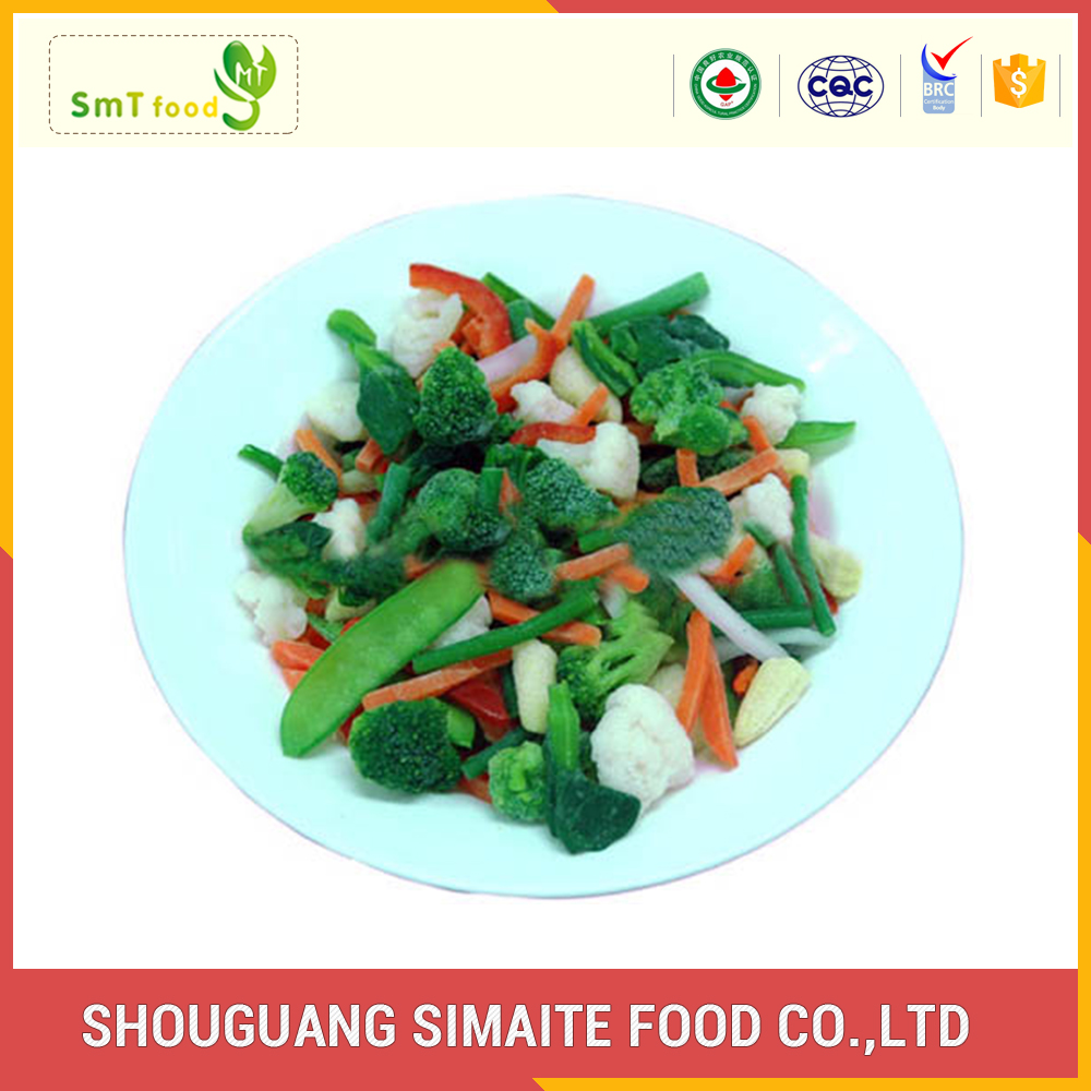 Wholesale organic frozen iqf mix vegetable