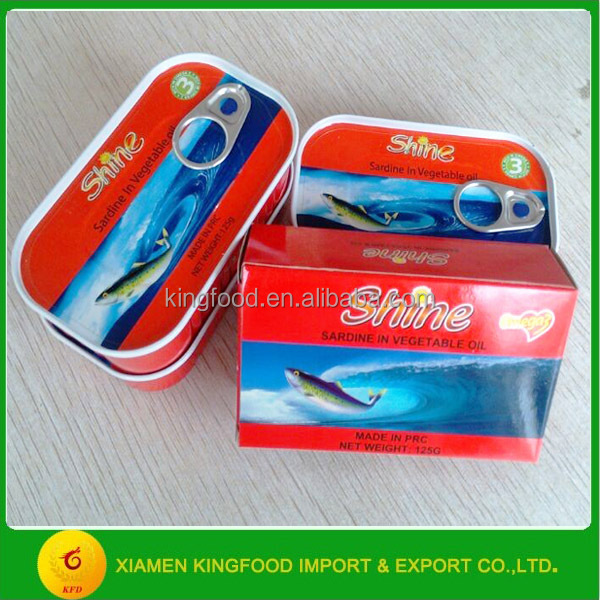 Wholesale 125g Canned Sardine Best Canned Sardine in Soybean Oil from China