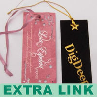 Free design quality guarantee luxury clothing / luggage / hand bag tag paper hand tag for garment (We Supply Factory Price)