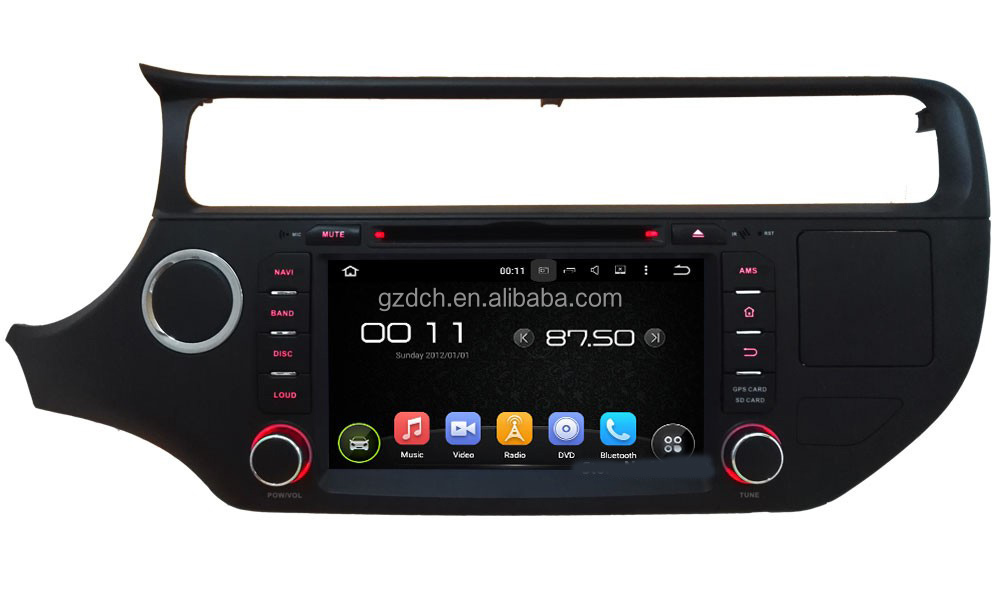 5.1 <strong>android</strong> car dvd player for Ki-a K3 RIO 2015 2016 HD1024*600 QUAD CORE 1G+16G support 4G without can <strong>bus</strong> WS-9593