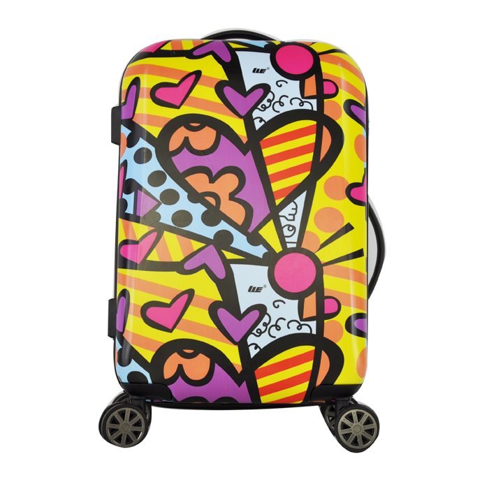 2016 Fashion Design and Colorful Transparent Clear Super Light Four Wheels Travel Luggage