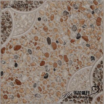 Im Freien Fluss Kopfsteinpflaster Blume Muster Grobe Stein Keramik