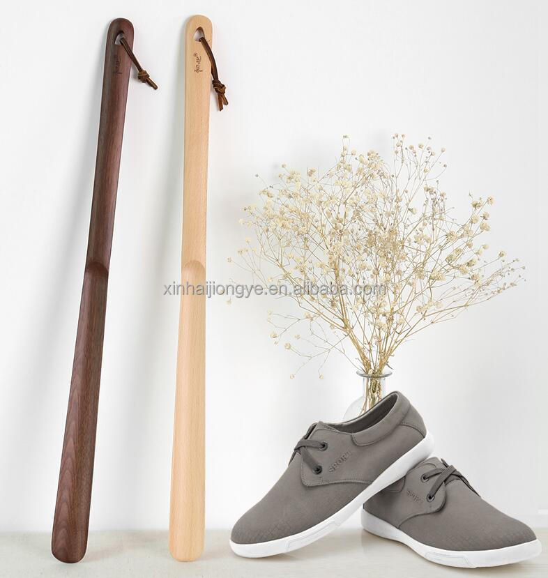 Creative Wood Extended Shoes Long Pull Shoehorn Craft