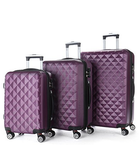 BEIBYE alibaba china manufacturer 2016 new products diamond purple cheap abs travel luggage