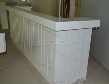 Bureau droit moderne tiroirs laqué blanc brillant sam gdegdesign