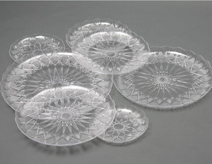 disposable plastic crystal plate fruit plate