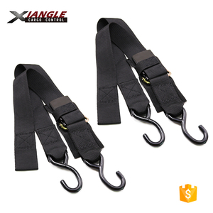 "2"" x 4' or 6' Transom Retractable Ratchet Tie Down Straps with quick release buckle for boat trailer"