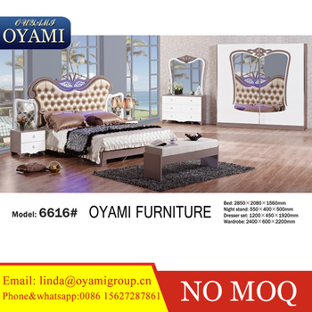 Arabic High Glossy Lacquer Modern Bedroom Furniture Sets