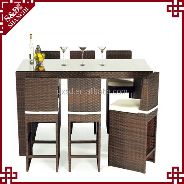 Outdoor rattan muebles de bar mimbre conjunto bar de golf-Conjuntos de mueble...
