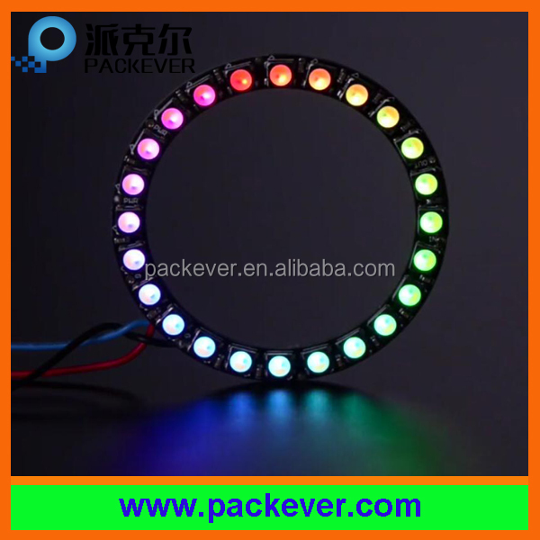 Programmable WS2812 SK6812 24 x 5050 RGB RGBW LED pixel ring