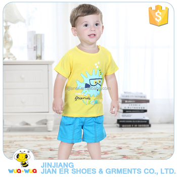 Custom made summer bright color children boys boutique outfits