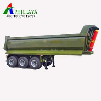 China Standard Dump Truck Dimensions 30 Ton 50 Ton Rear Dumper Semi