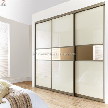 Cheap Wooden Latest Bedroom Sliding Doors Wardrobe Closet Cabinet