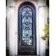 Customized antique arches metal wrought iron single door