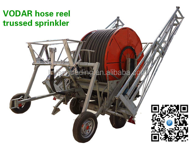 JP75-400, JP90-300 series hose reel irrigation system machine/equipment with truss and rain gun