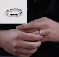 Fashion Silver Stainless Steel Wedding Rings With Name
