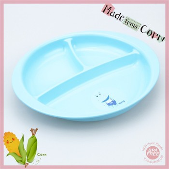 Wholesale High Quality Round Bpa Free Kids Plastic Dinner Plate ...