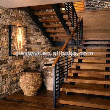 Wrought Iron Straight Staircase Design For Indoor Outdoor