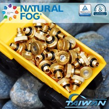 Natural Fog Taiwan Made Patio Cooling Misting System Brass Fog Nozzle