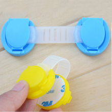 5Pcs lot Baby Safety Lock Cabinet Door Desk Drawer Cupboard Plastic Lock Child Kids Safe Locks
