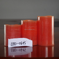 Cheap red pillar flameless led candle,remote control led candle