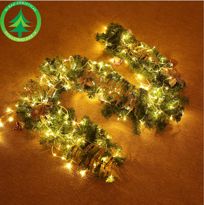 Xibao brand Christmas Garland with Hanging LED Fiber Optic Christmas Garland for Outdoor Decoration