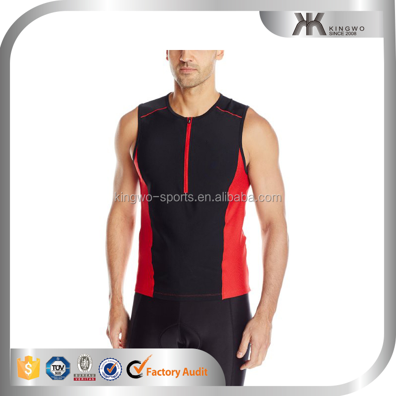 New model breathable cheap cotton/polyester contrast color quick dry gym vest for men