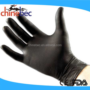 Black Disposable Powder Free Latex Gloves Factory and Plant for Hair Washing
