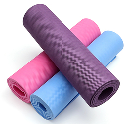 China supplier washable recycled 10mm thickness yoga mat with carrying strap